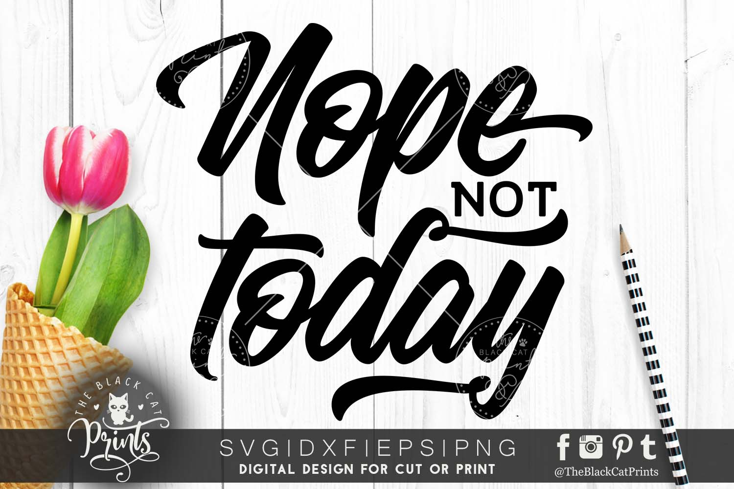 Nope Not Today SVG DXF PNG EPS example image 3