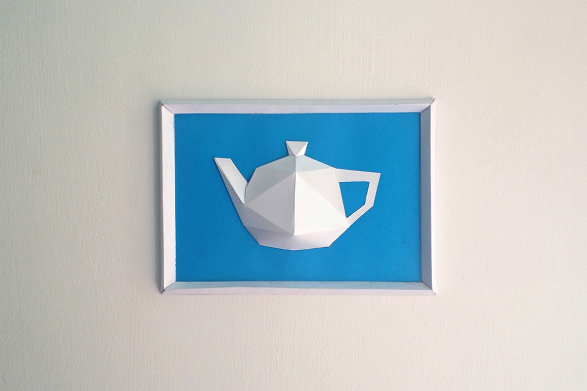 DIY Kettle Frame - 3d papercraft example image 1