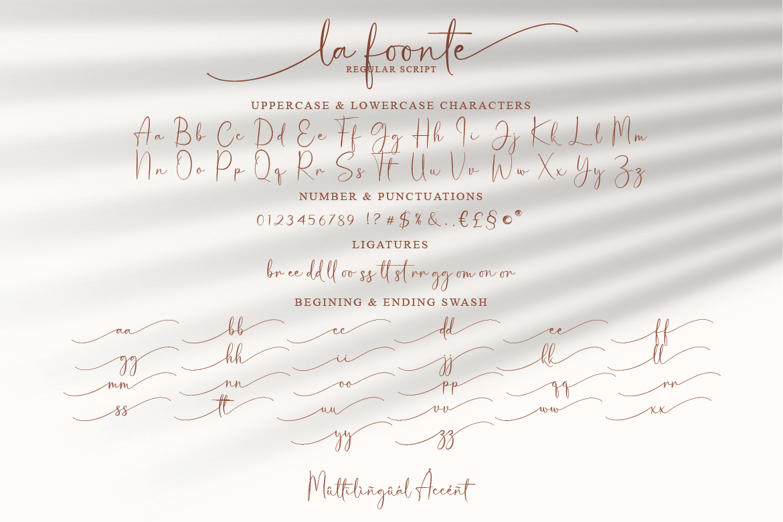 La Foonte   Sans Script Font Duo example image 11