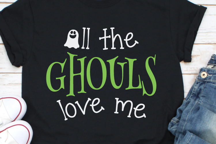 All the ghouls love me Svg, Halloween Svg, Funny Halloween example image 1