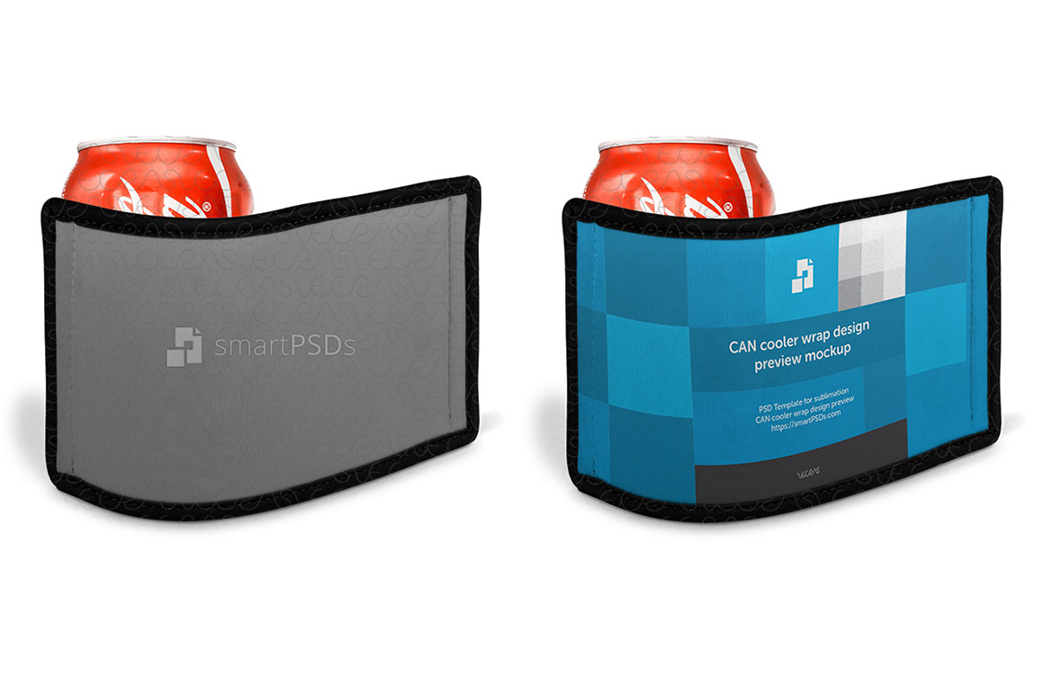 Can Cooler Wrap Design Mockup - 3 Views example image 5