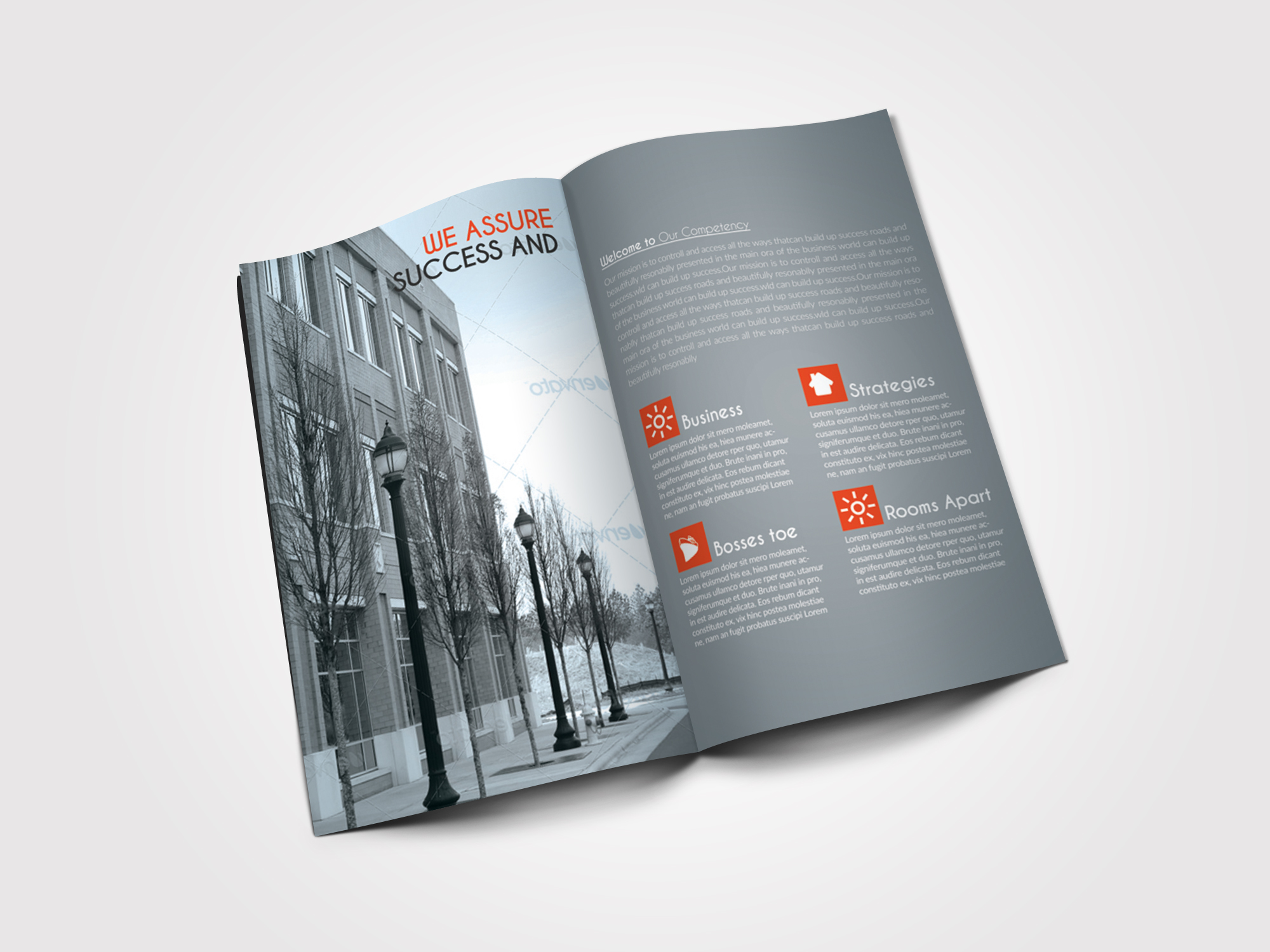 10 Pages Business Bifold Brochure example image 6