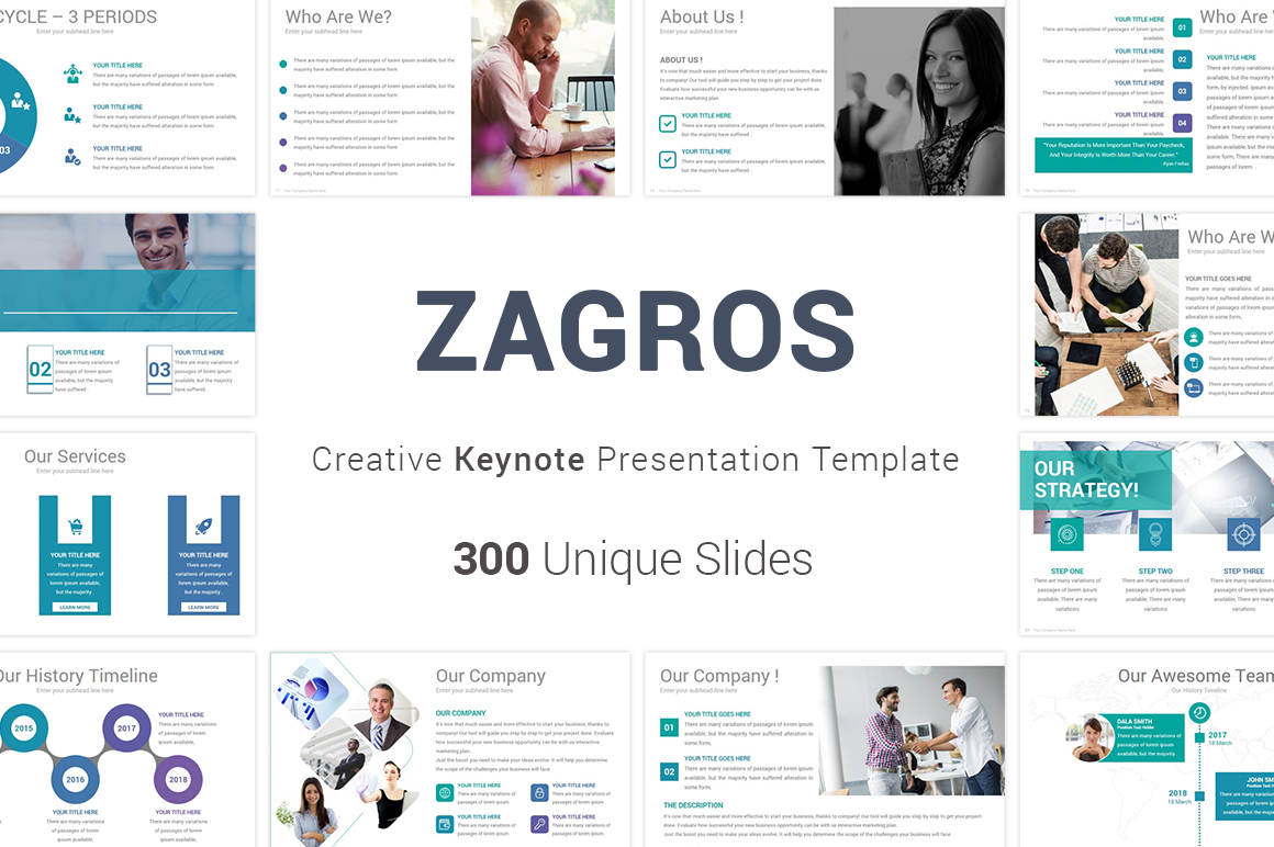 Zagros Keynote Template example image 1