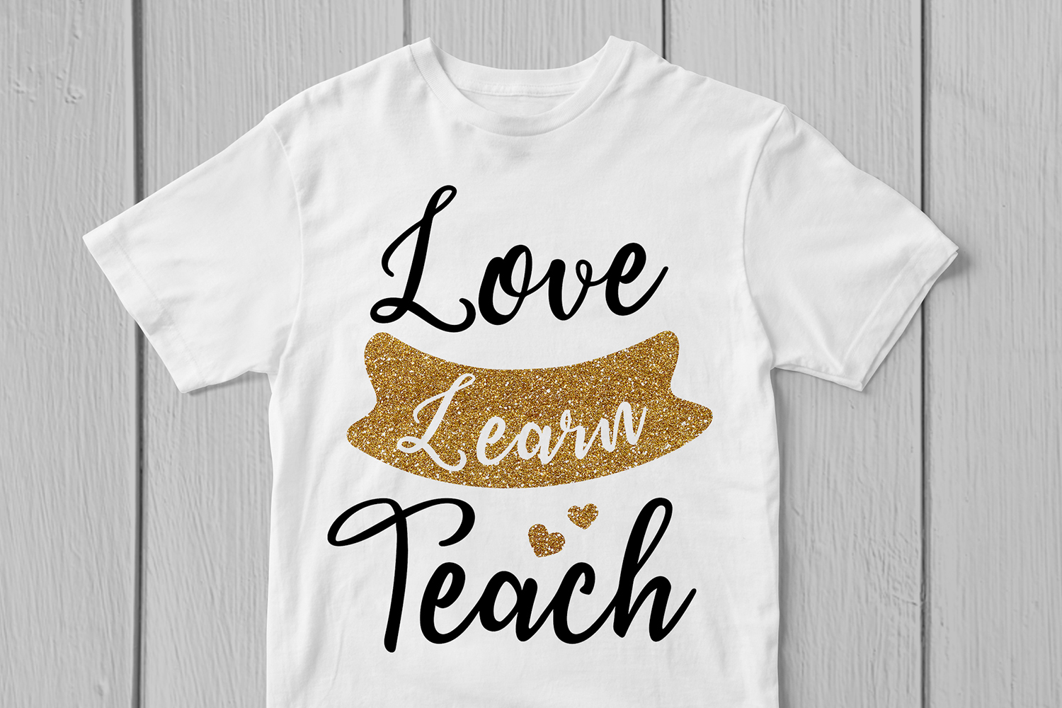 Love Learn Teach - Teacher Inspiration SVG EPS DXF PNG Files example image 3