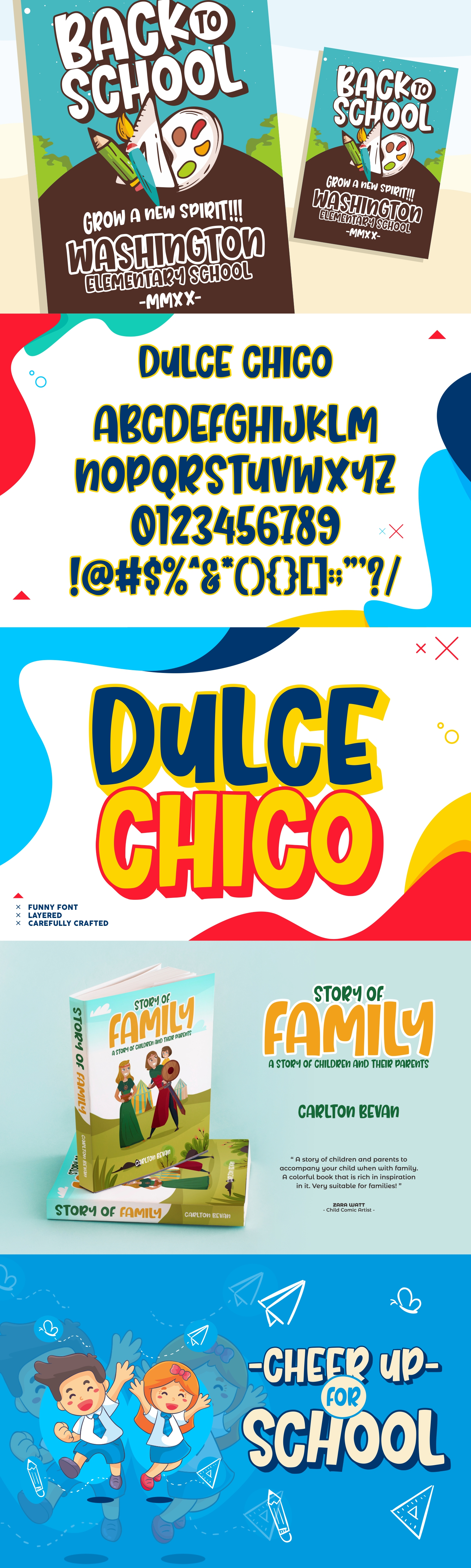 Dulce Chico || Display & Playful Font example image 8