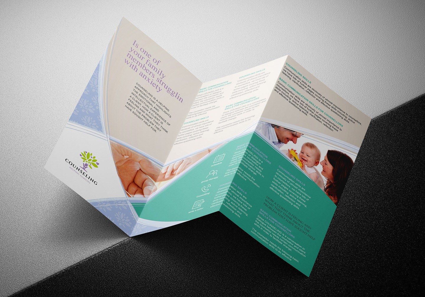 Counselling Service Tri-Fold Brochure Template example image 5