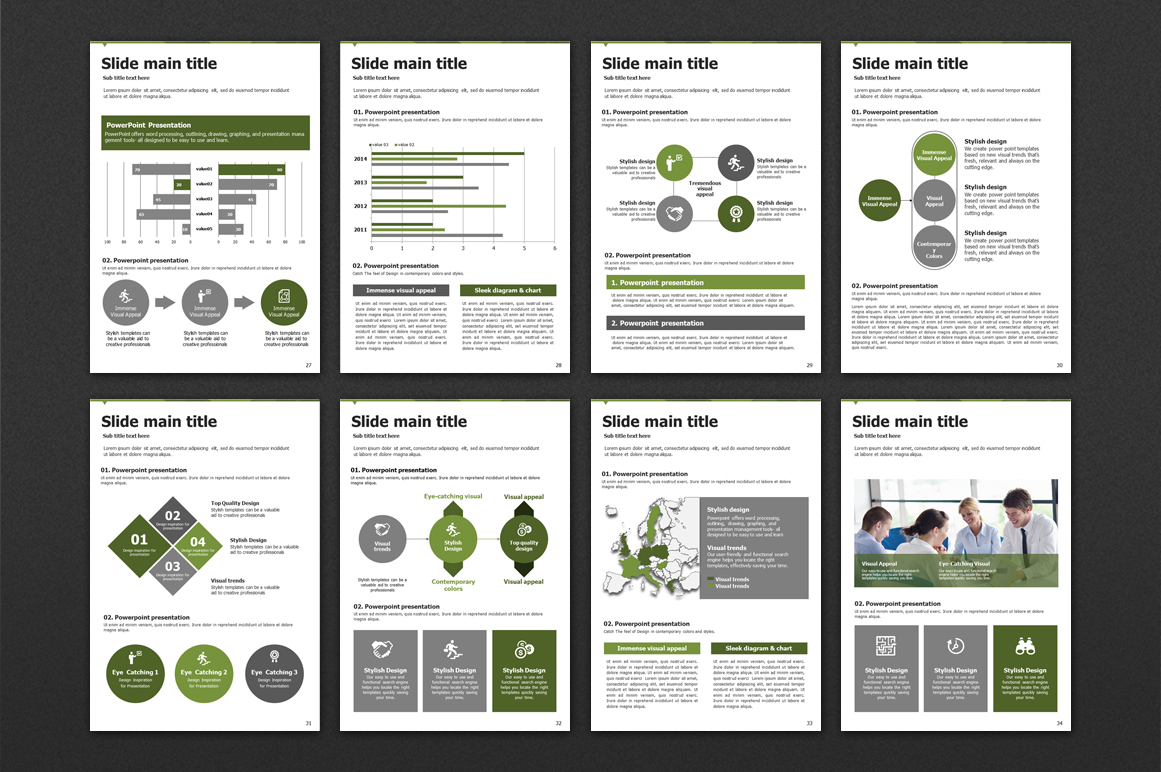 Triangle Powerpoint Template Vertical example image 5