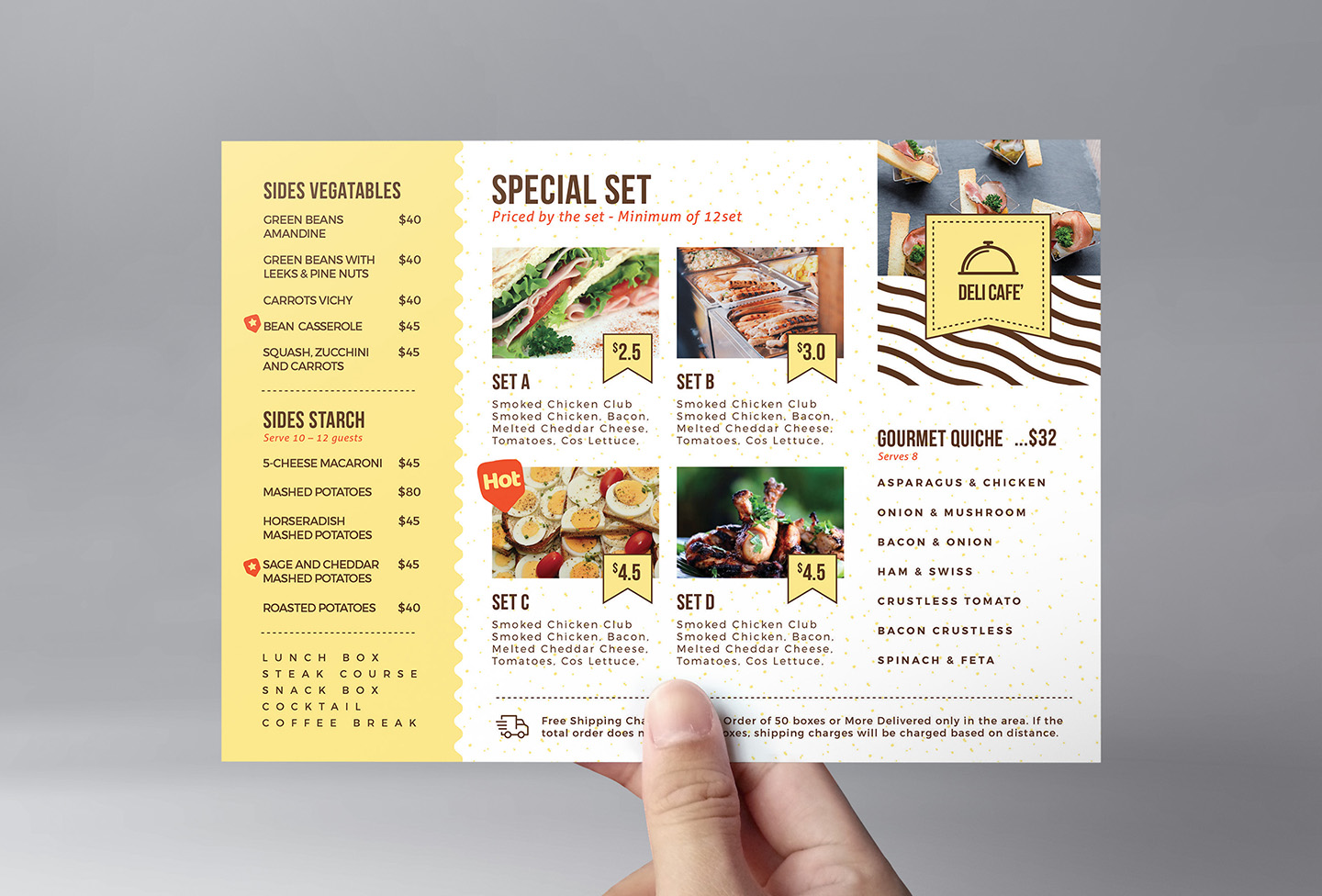 Catering Service Flyer Template v2 example image 2