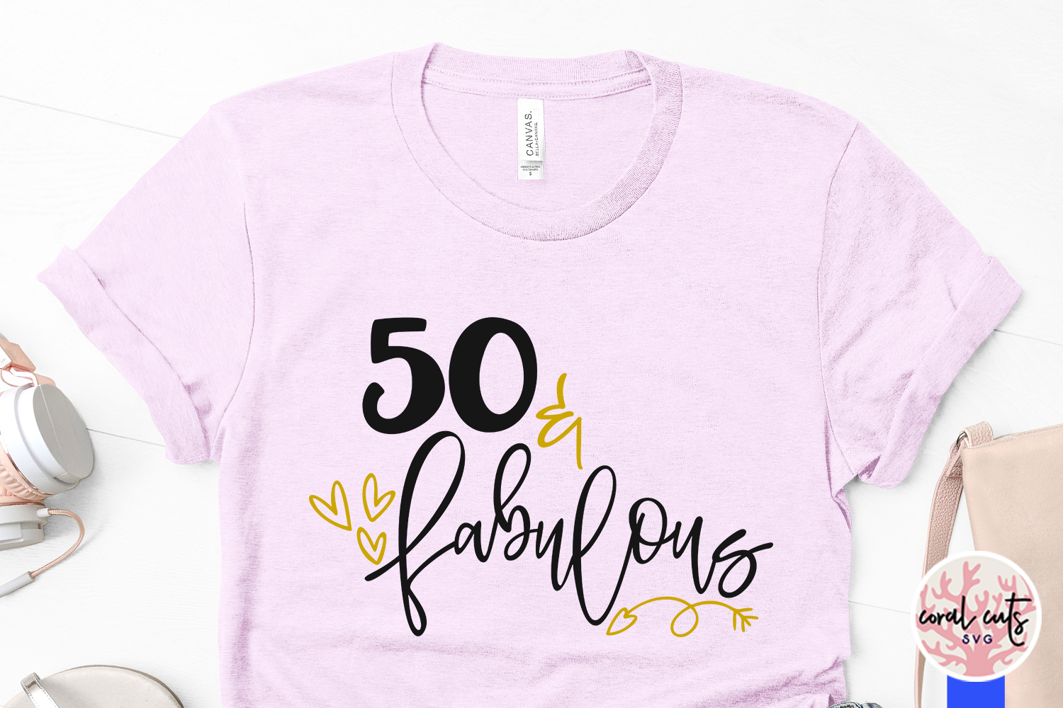 50 & Fabulous - Birthday SVG EPS DXF PNG Cutting File example image 3