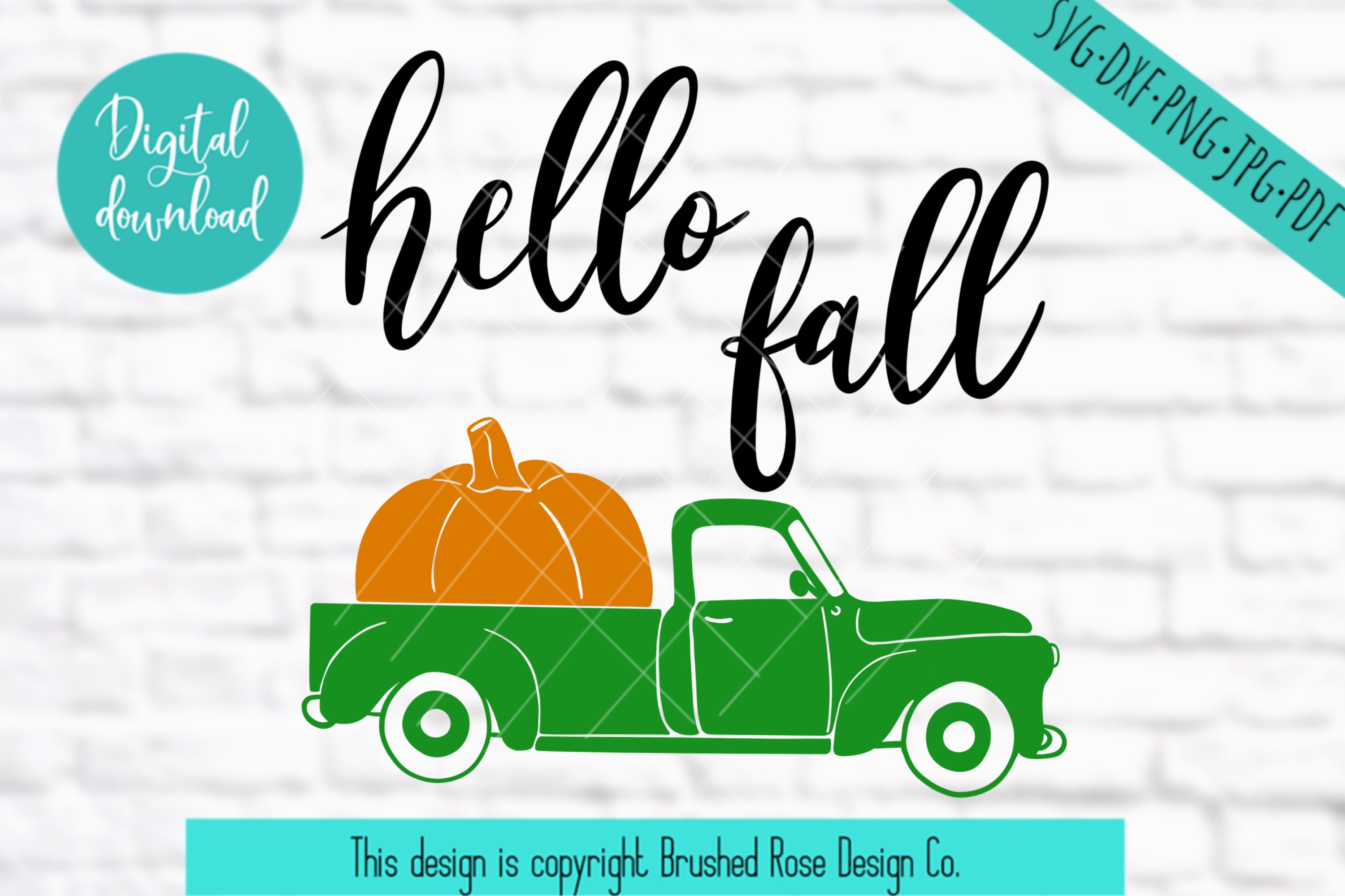 hello fall svg, truck clipart, hello fall clipart, truck svg example image 2