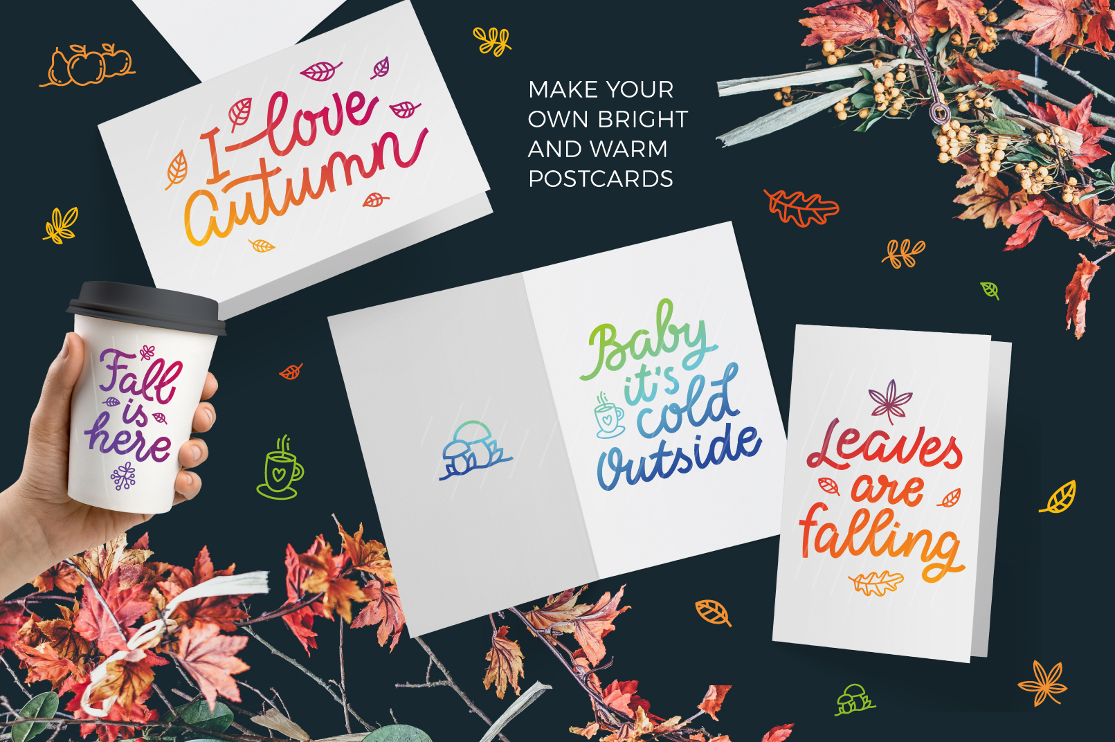Autumn Collection, vector letterings example image 2