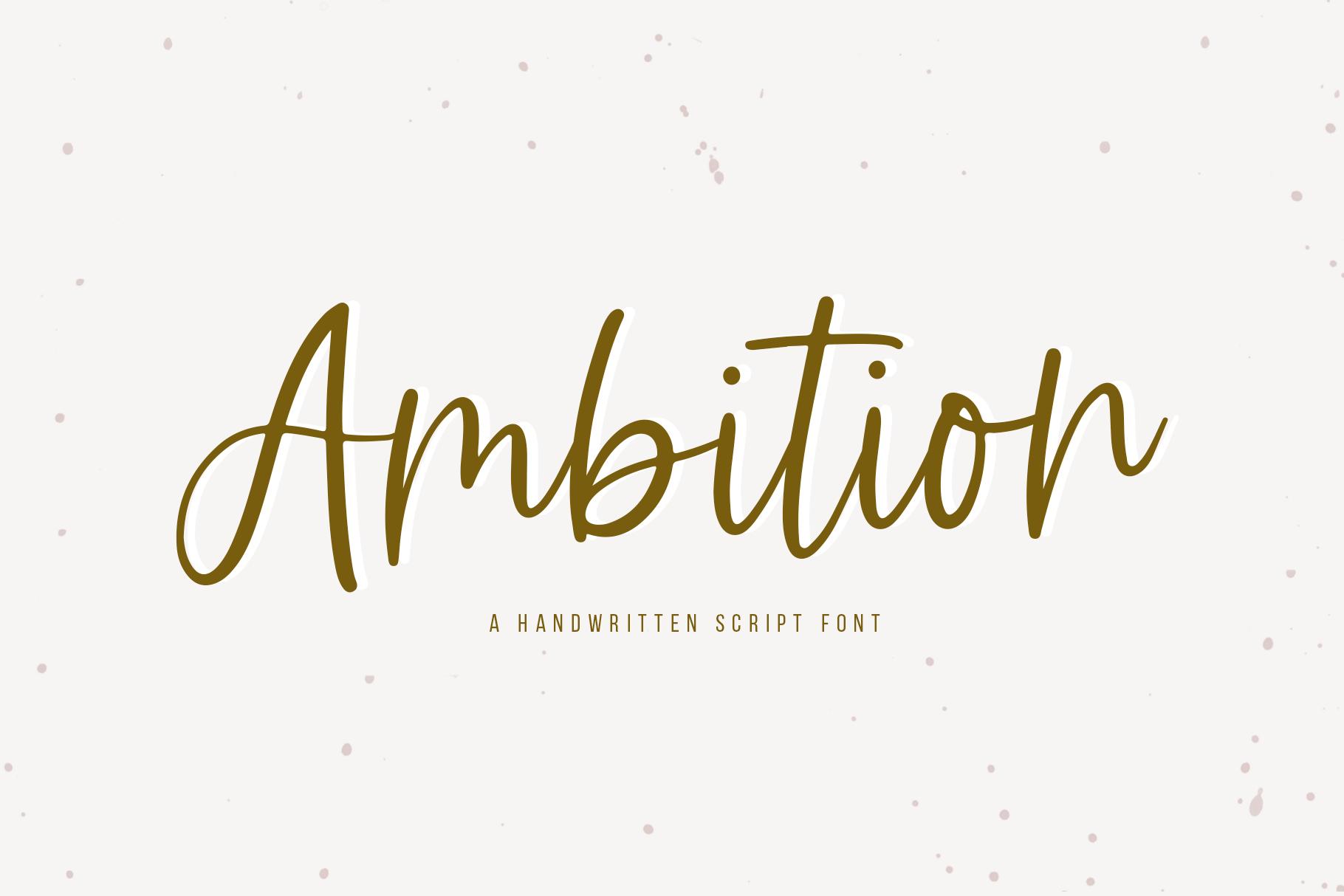 Ambition - A Handwritten Script Font example image 1