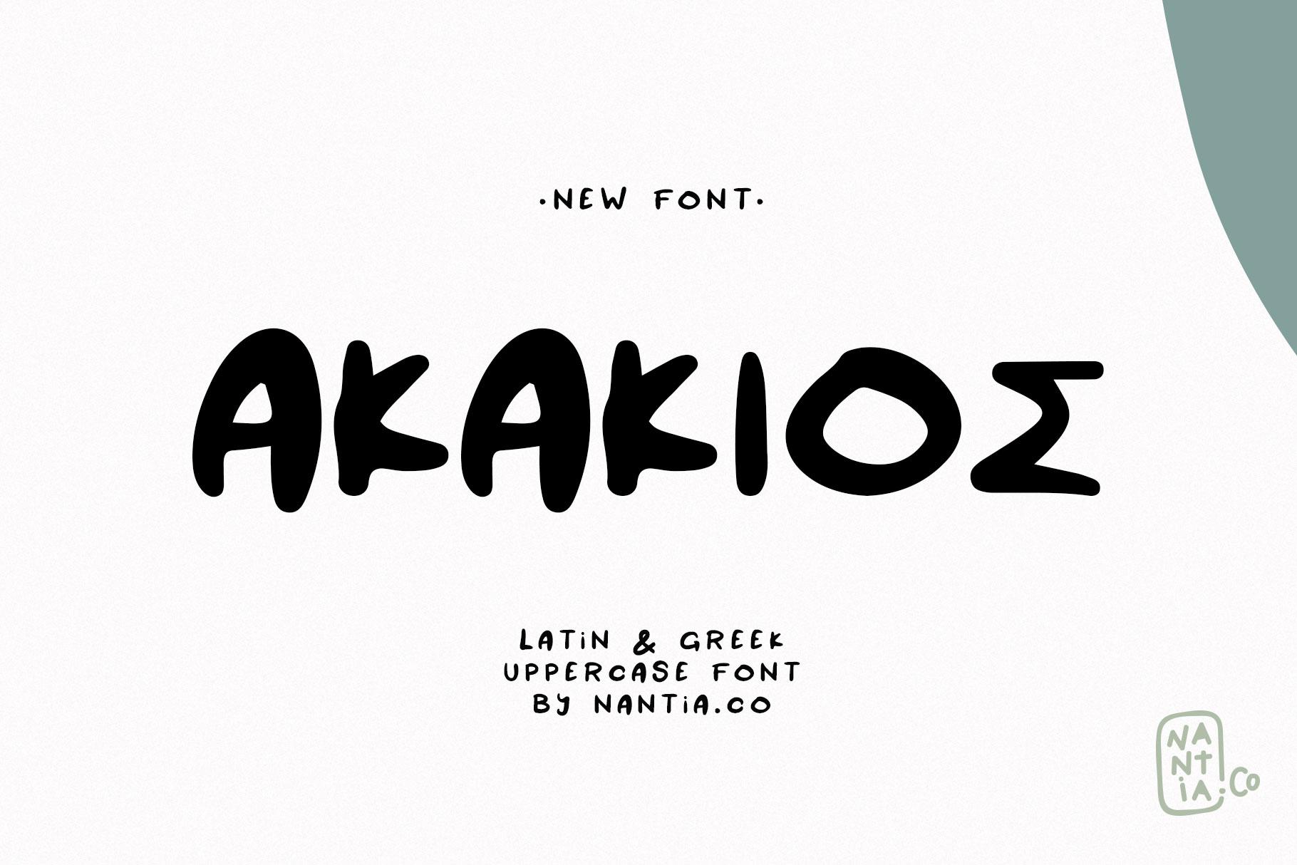 AKAKIOS UPPERCASE FONT example image 7
