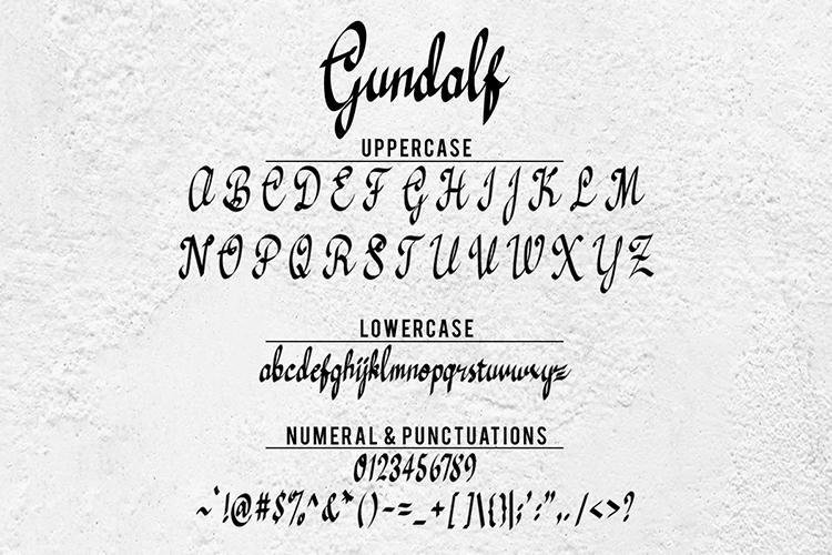 Gundalf font example image 12