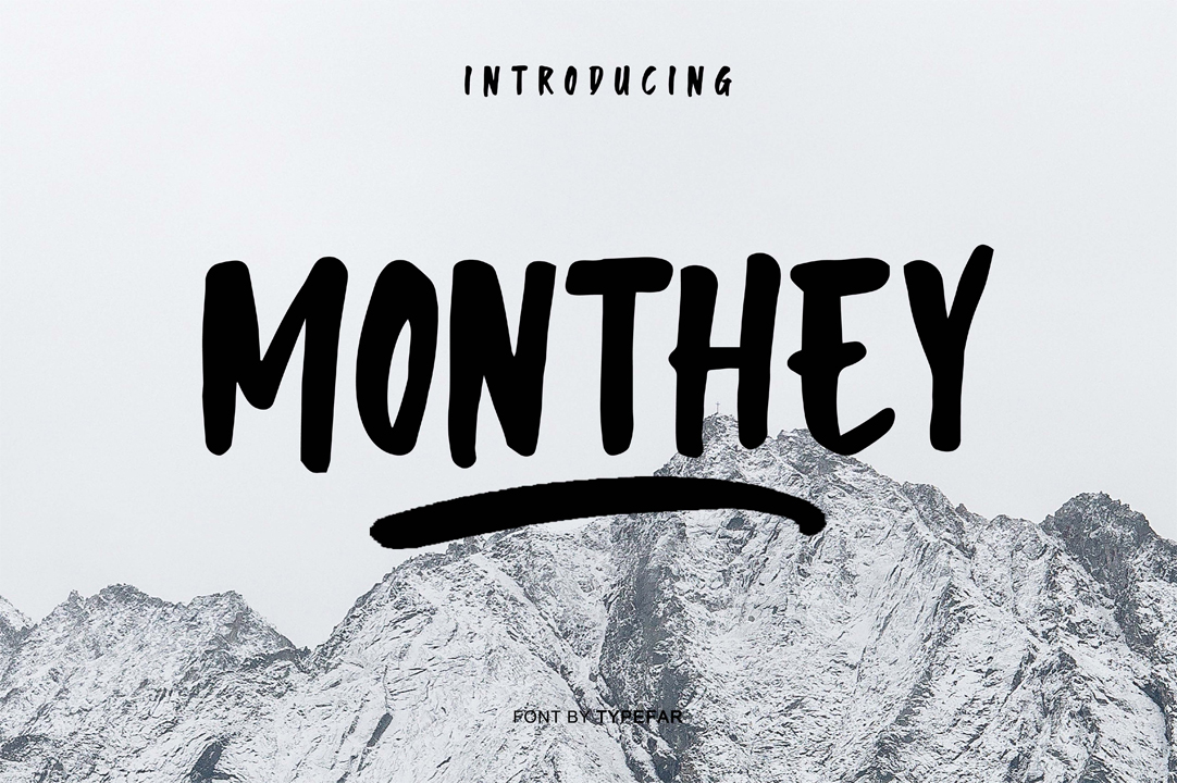 Monthey Font example image 1