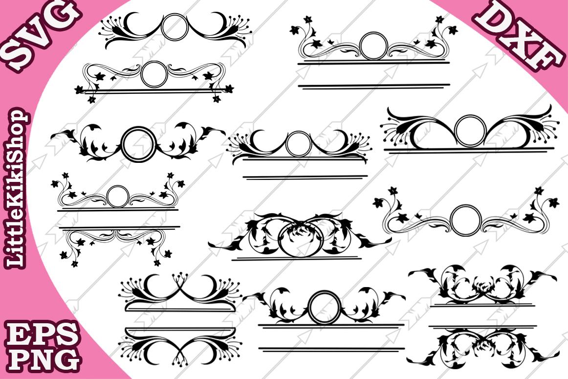 Flourish Monogram Svg, Flourish Frame Svg, Swirl Border Svg example image 1
