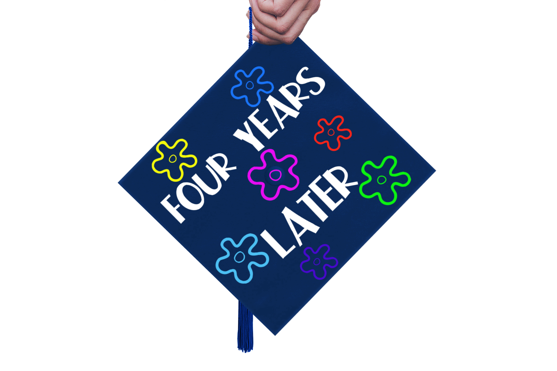 Graduation Cap Design - Four Years Later- A Mortar Board SVG example image 3