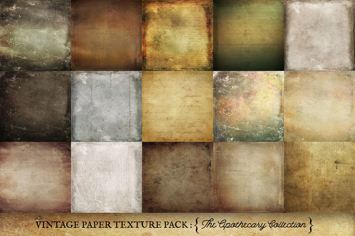 Vintage Paper Textures Apothecary Collection example image 3