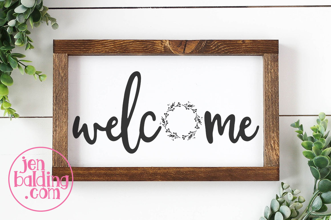 Welcome Wreath SVG example image 2
