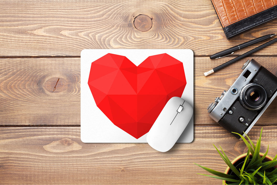 Heart icons set in different styles example image 6