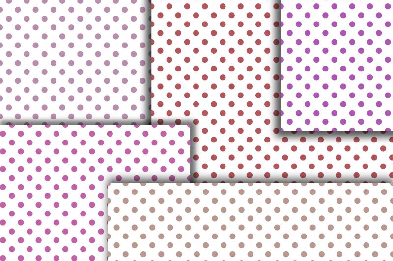 Pastel Polka dot digital paper. Dotted digital background example image 3