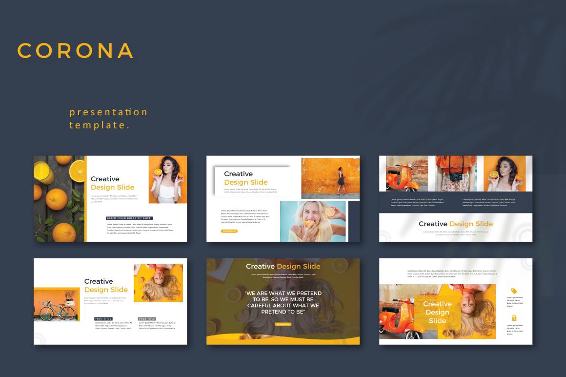 CORONA - Google Slides example image 4