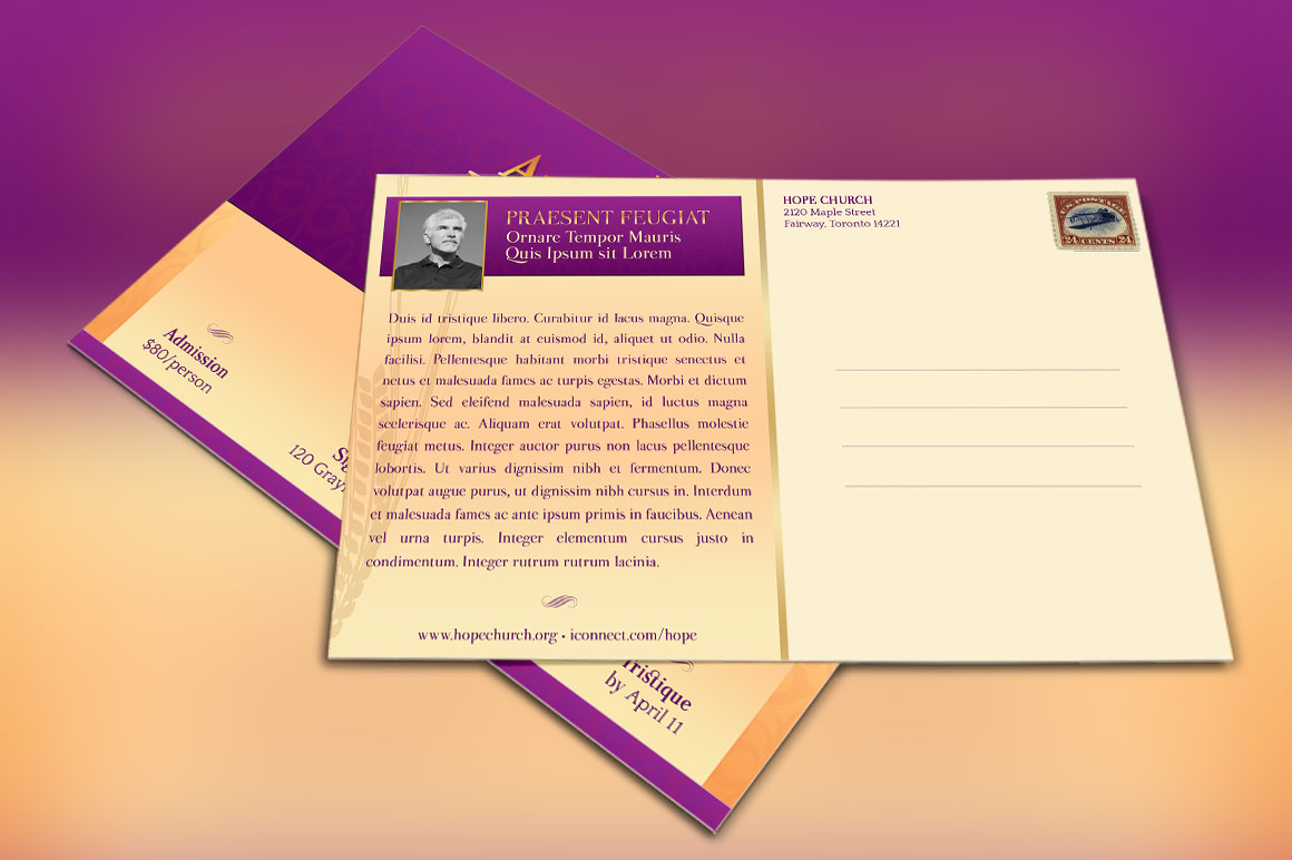 Church Gala Invitation Template example image 2