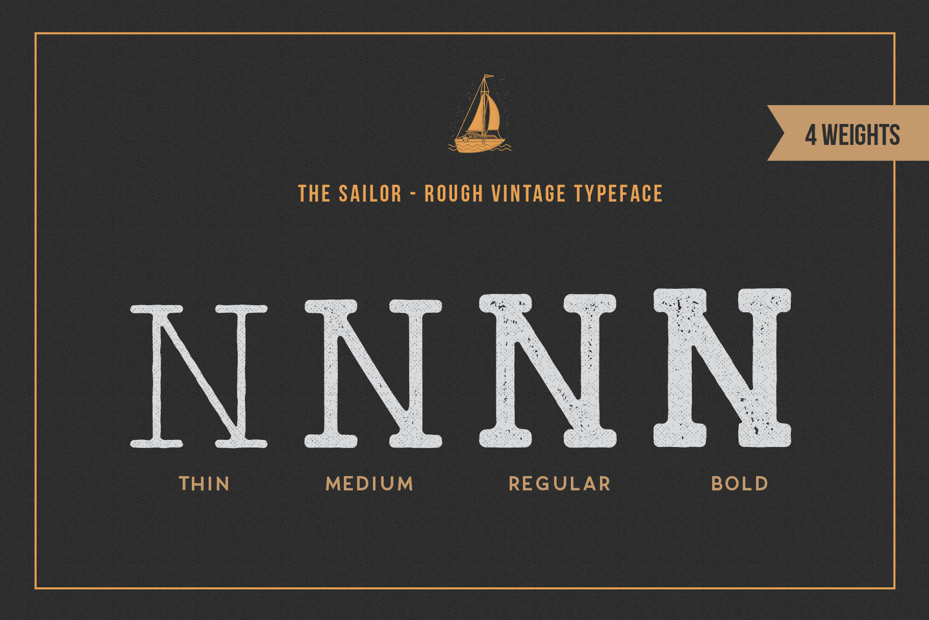 LightHouse - Vintage Sailor Rough Typeface example image 5