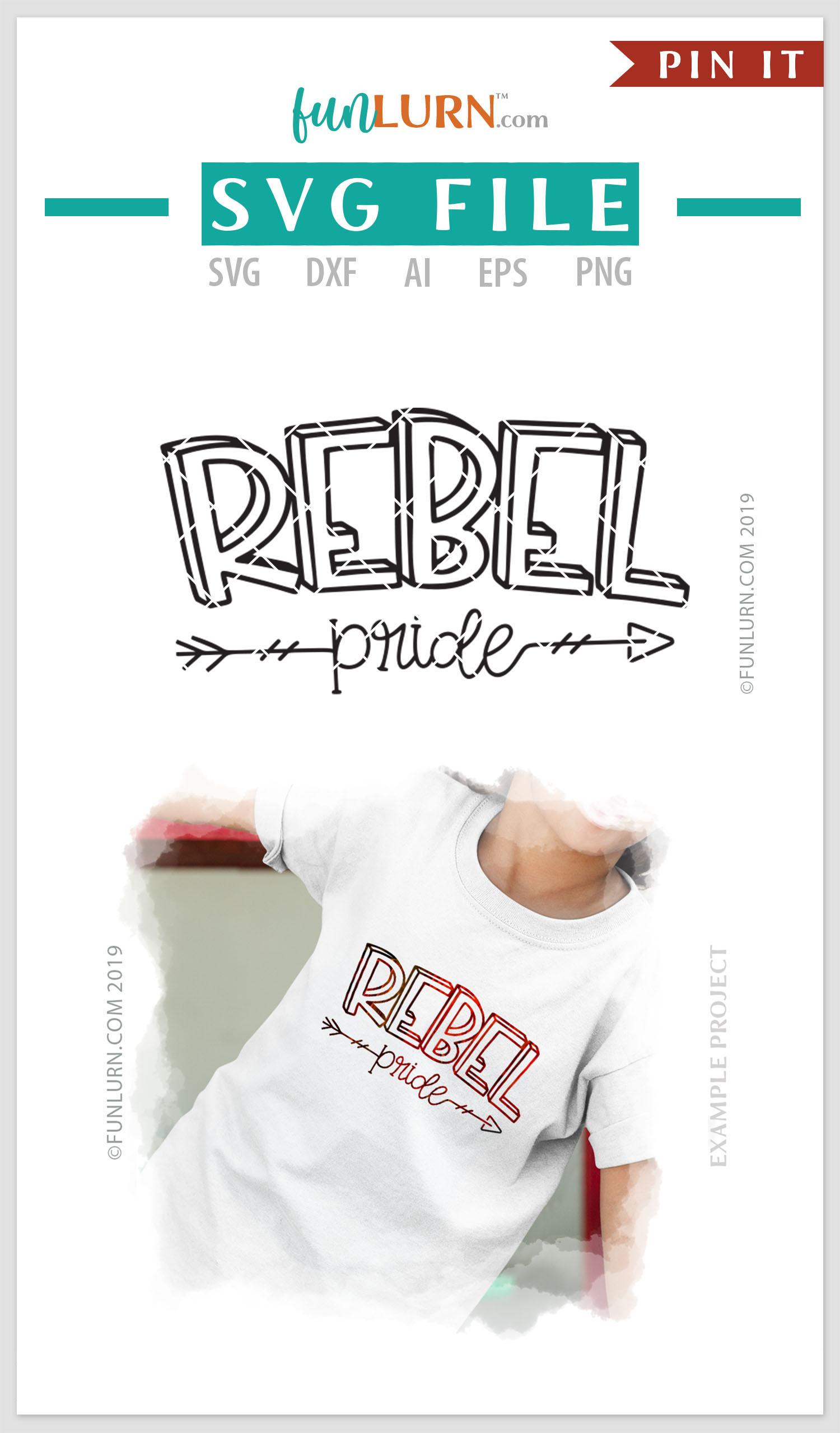 Rebel Pride Team SVG Cut File example image 4