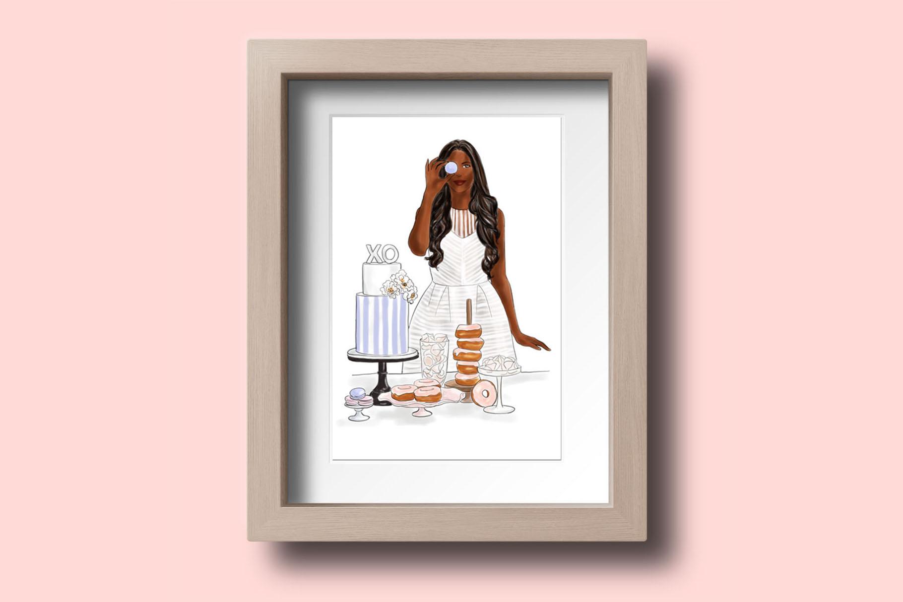 Fashion illustration - Baker Girl - Dark Skin example image 5