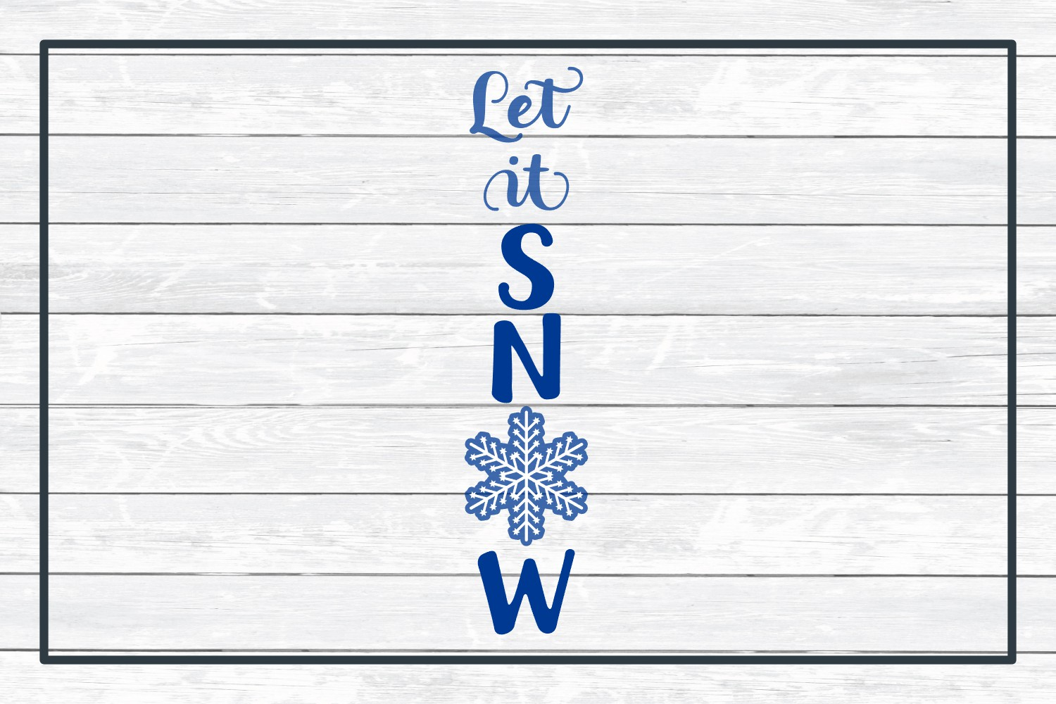 Let It Snow Holiday Porch Sign Design - Christmas SVG example image 3