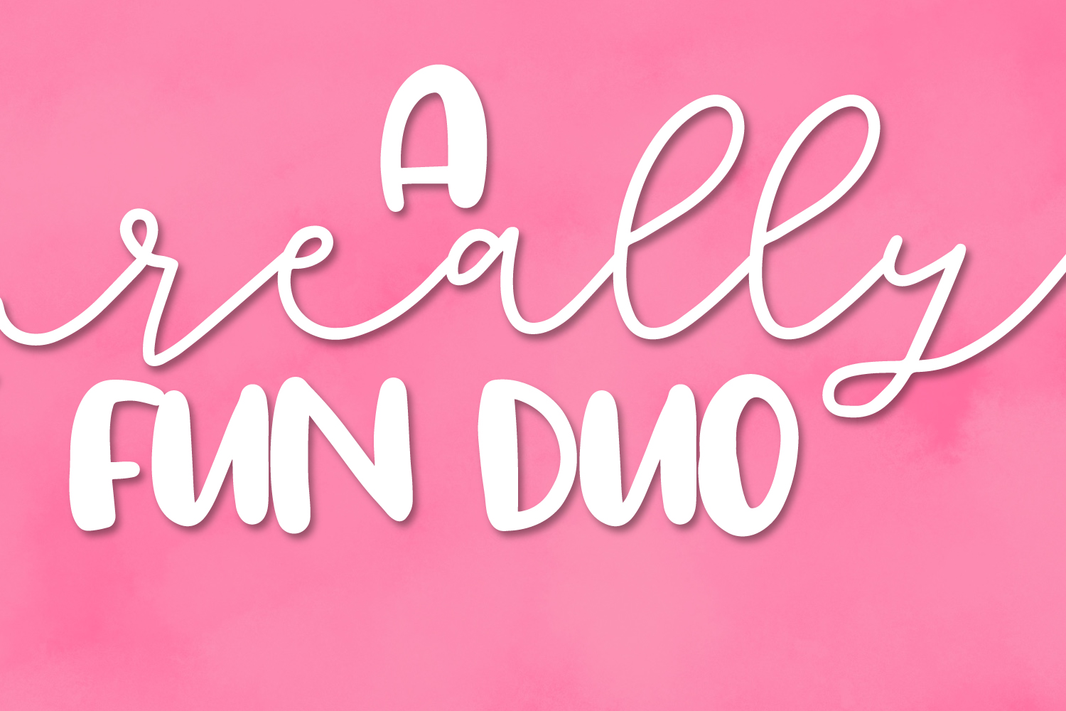 Totally Lovely - A Script & Print Font Duo example image 2