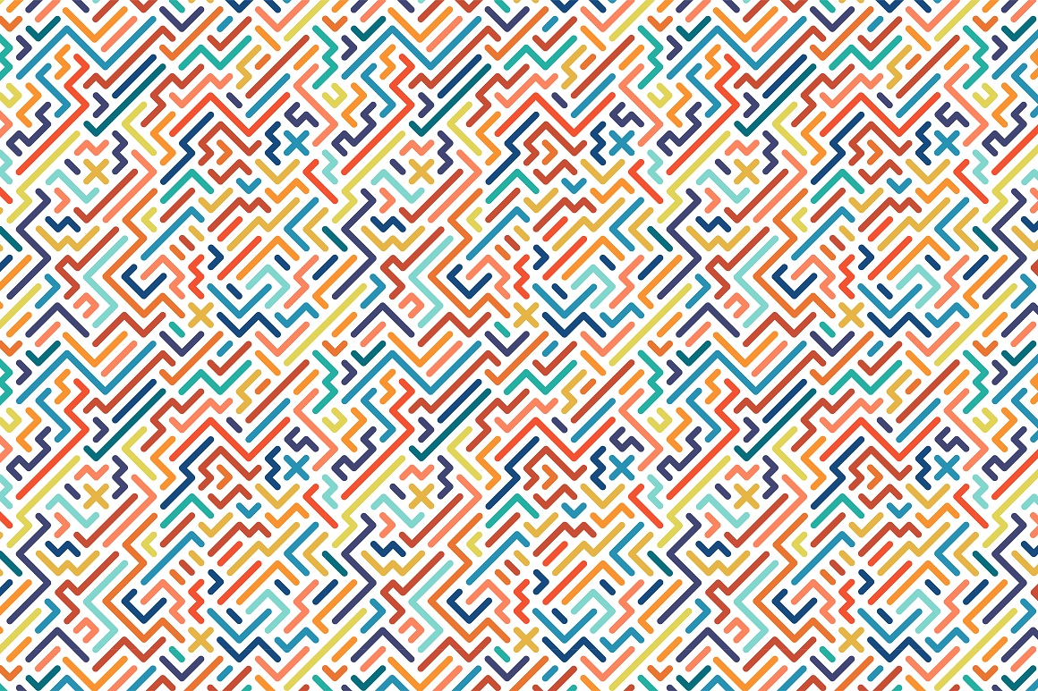 Colorful seamless striped patterns. example image 16