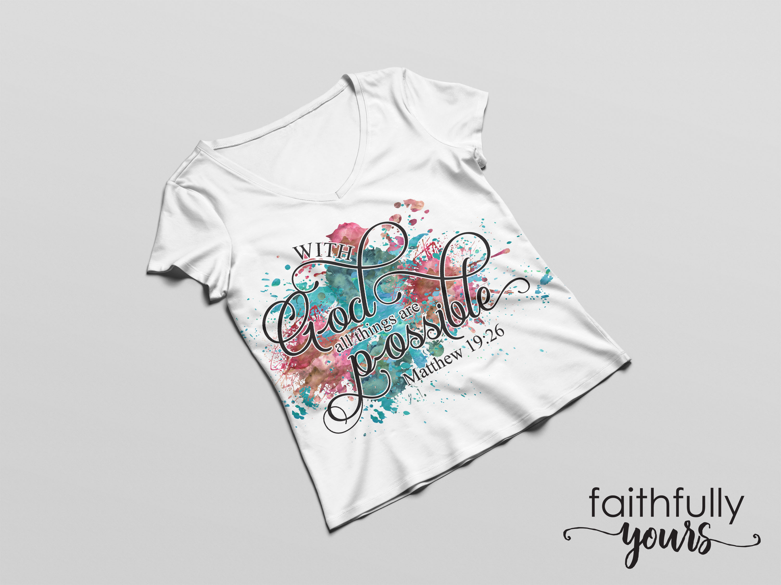 With God, all things are possible! Sublimation Design PNG example image 2