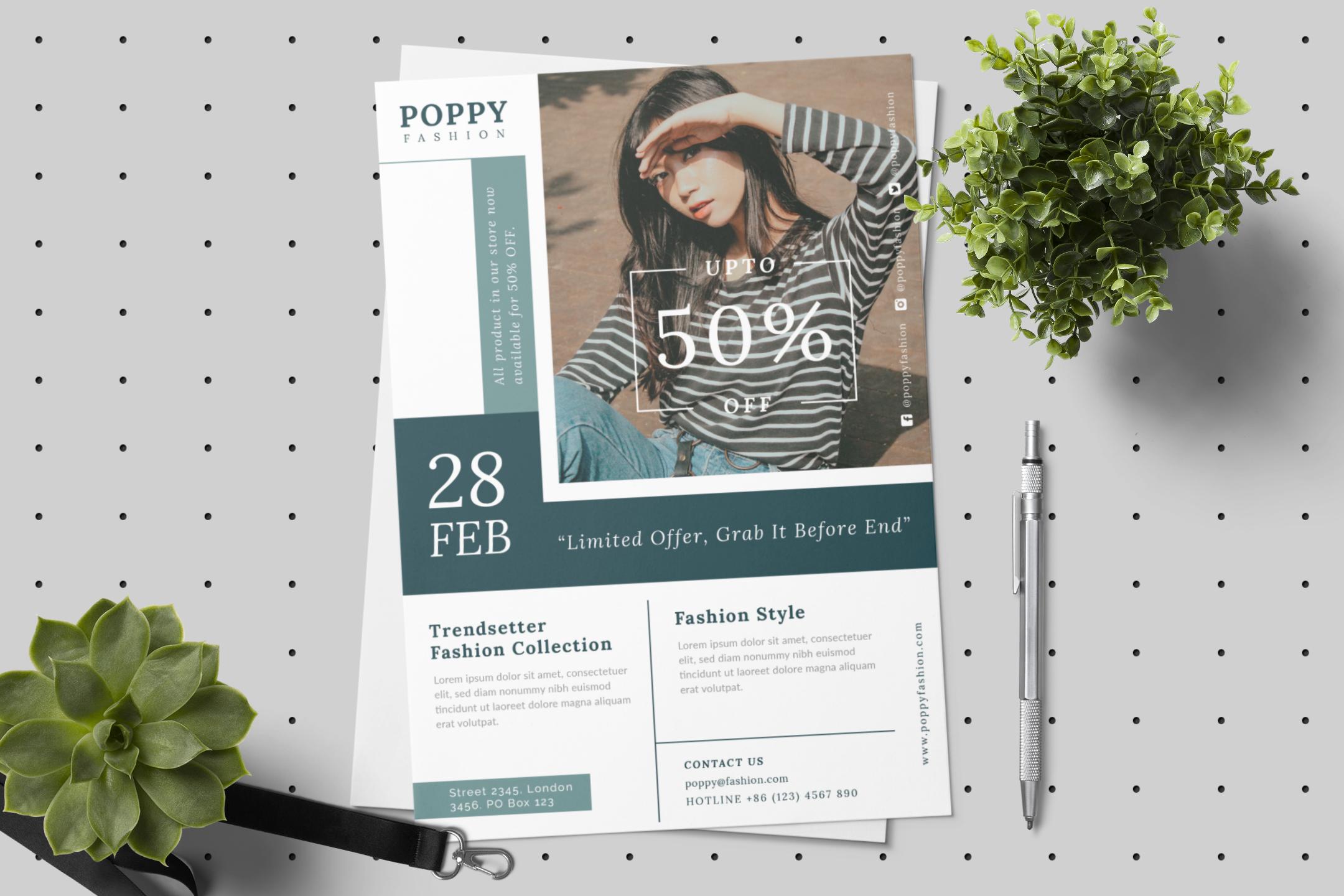 Poppy - Fashion flyer example image 10