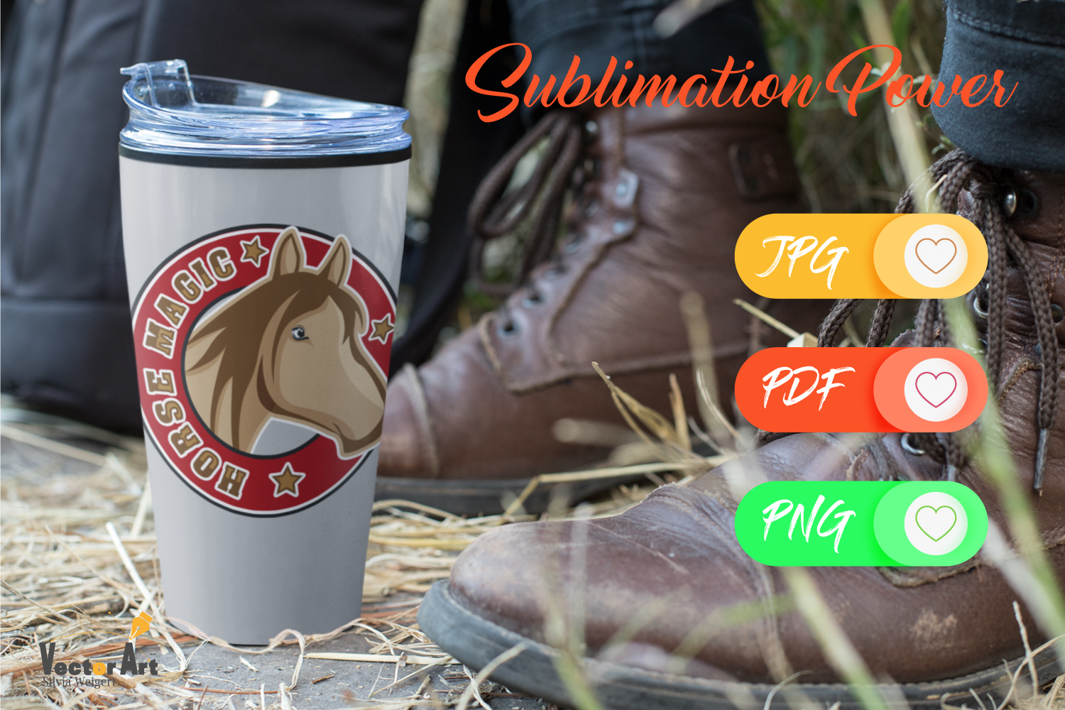 Horse Magic - Sublimation File for Crafter example image 4