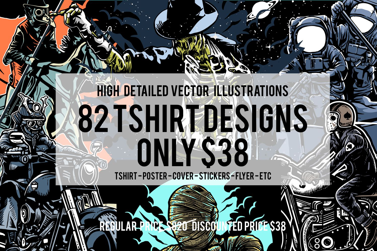 82 Tshirt Designs Bundle example image 1