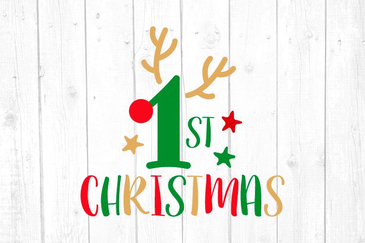 First Christmas Svg, Christmas, Christmas Svg, Baby Tshirt example image 1