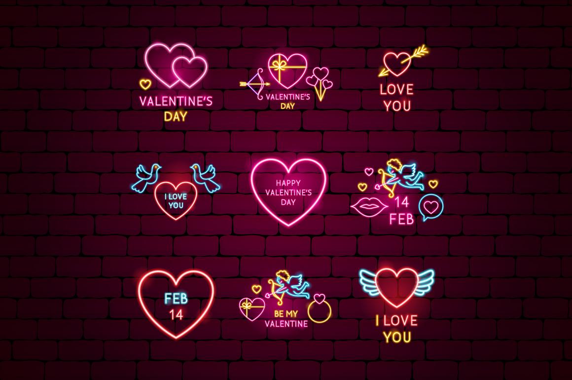 Valentine's Day Neon example image 7