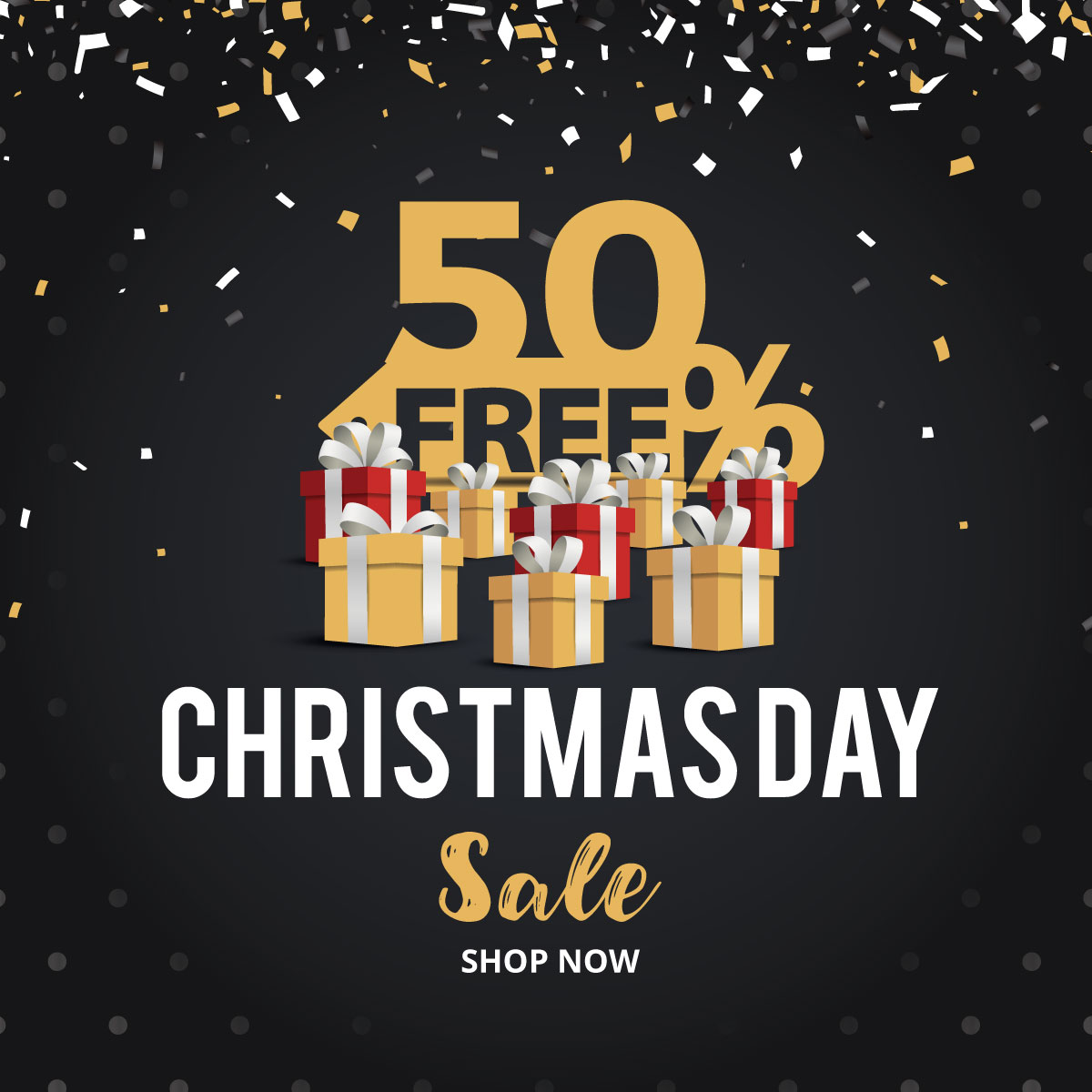 Christmas and New Year 2018 Discount Sale banners example image 1