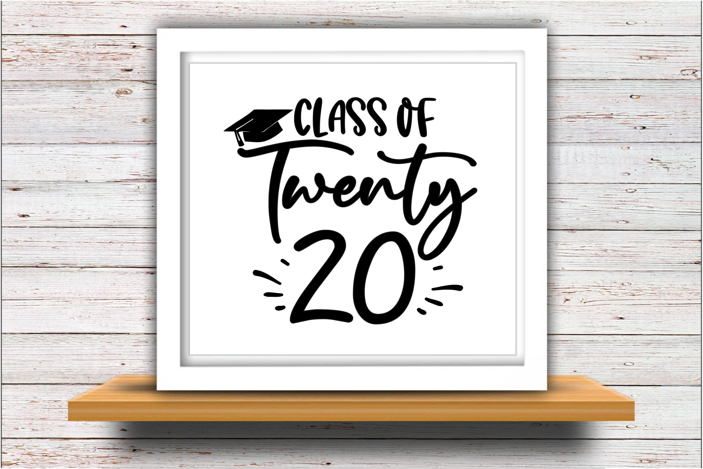 Senior SVG DXF JPEG Silhouette Cameo Cricut Class of 2020 20 example image 2