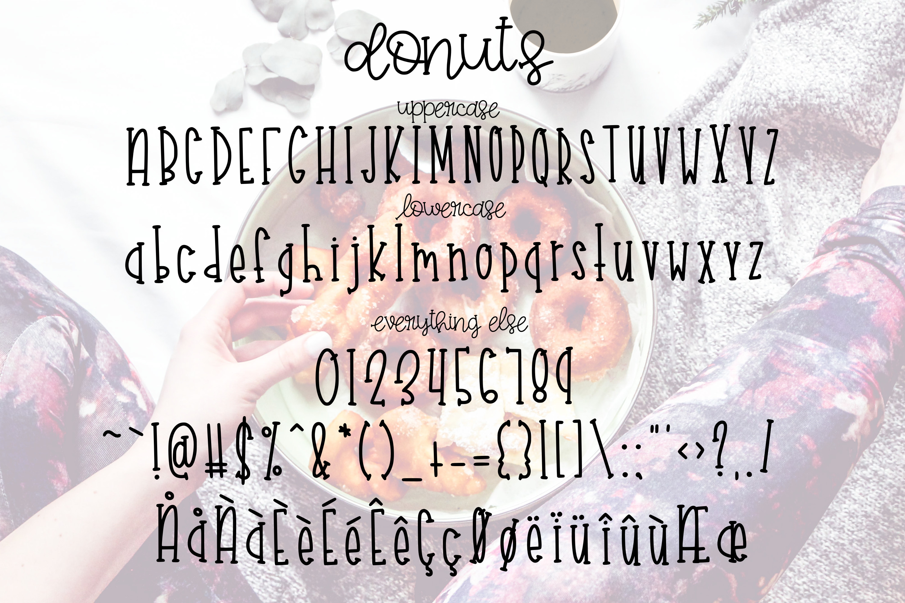 Coffee and Donuts a Font Duo example image 3