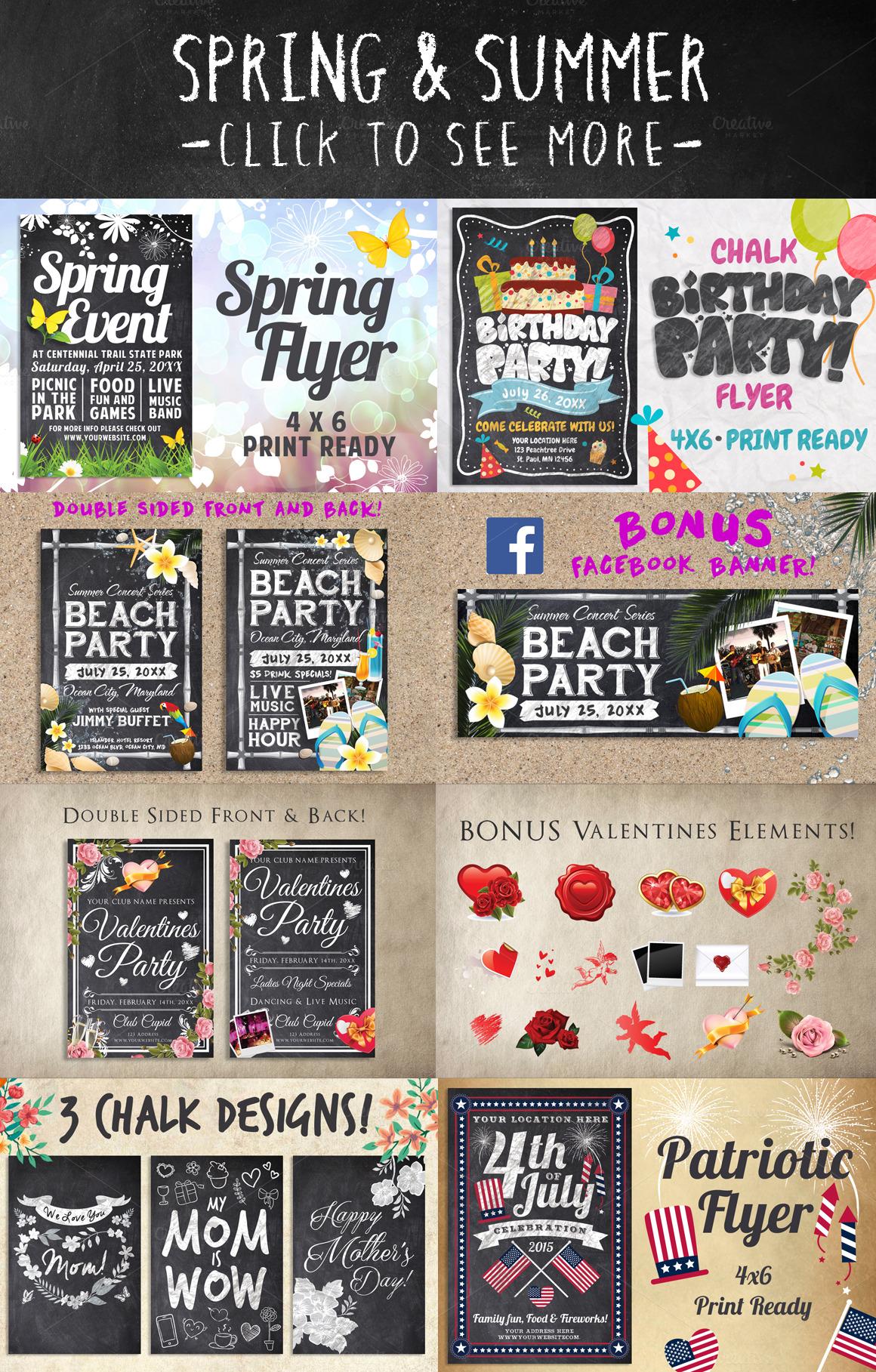 Mega Chalk Holiday Bundle 60 off example image 4
