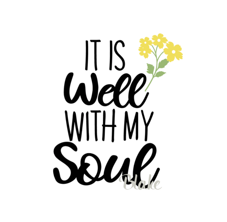 It Is Well With My Soul Svg CUT File For Silhouette Cameo