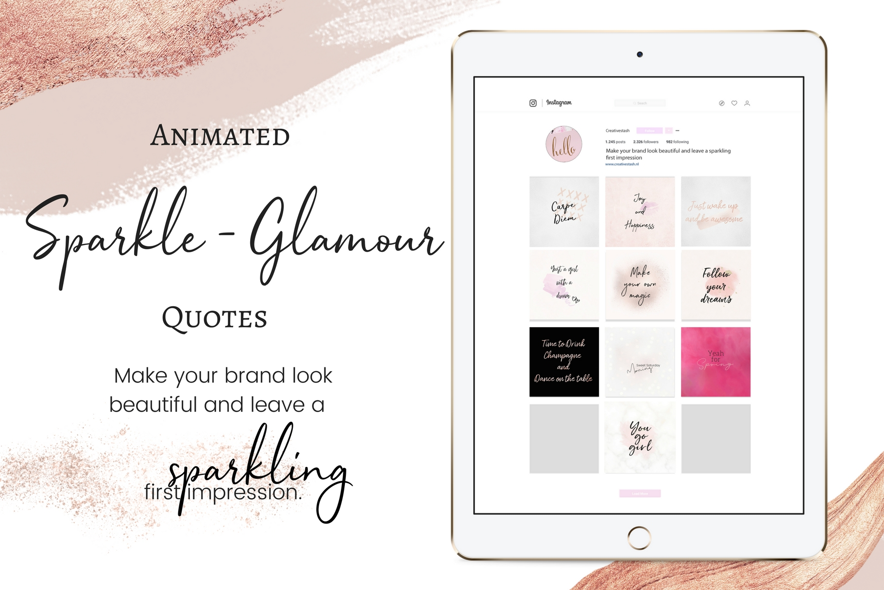 Animated Sparkle - Glamour quotes  example image 1