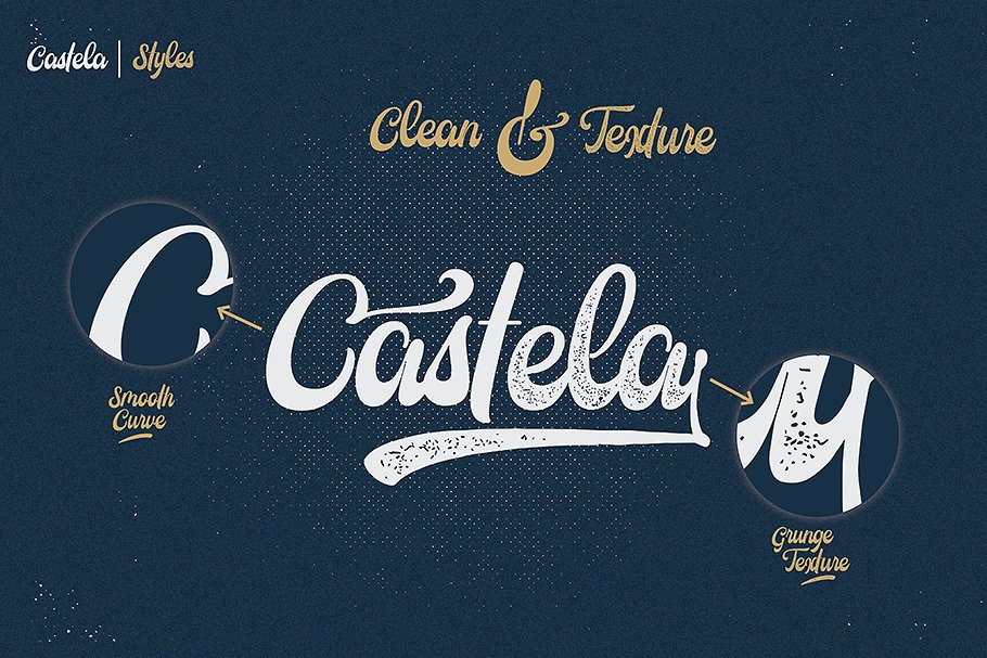 Castela 3 fonts with extras example image 2