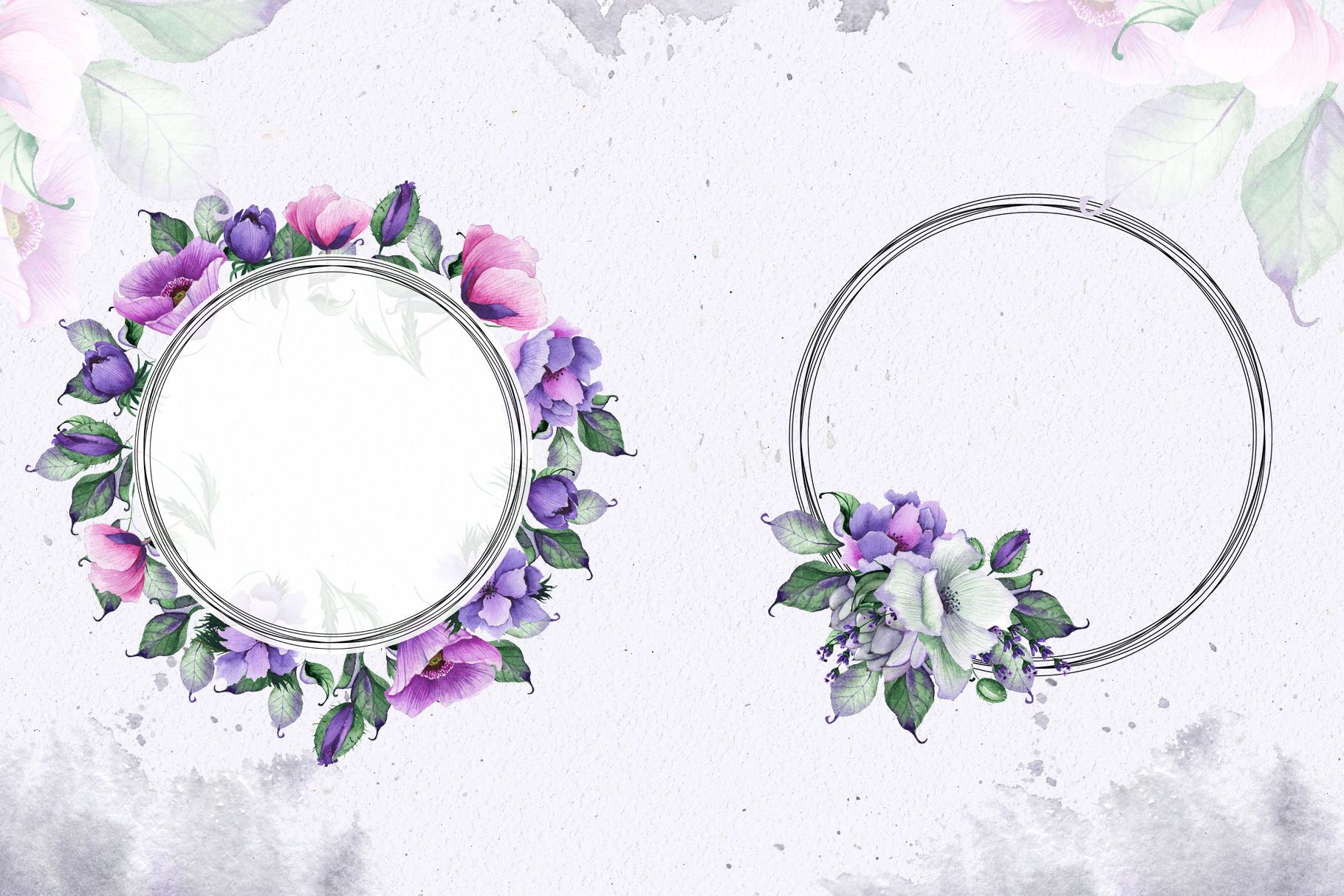 Floral purple green wedding collection example image 7