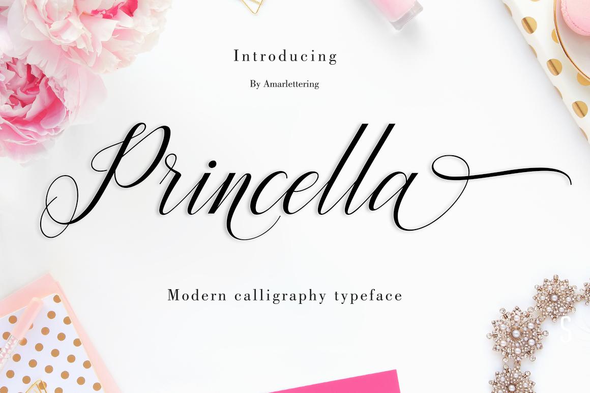 Princella Script | 5 Font example image 5