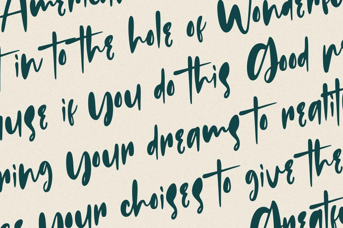 Russeline - Handwritten Font example image 3