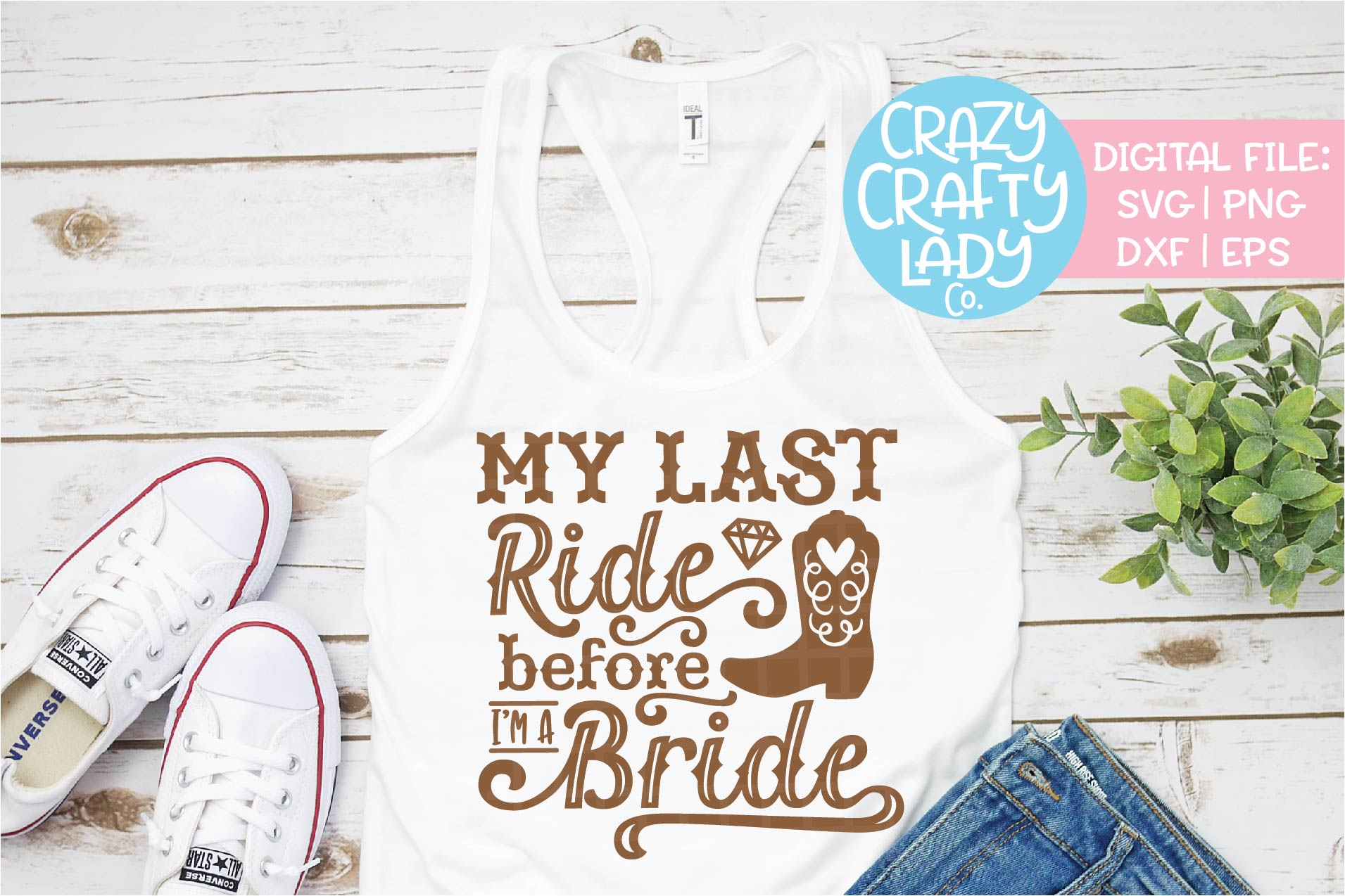 My Last Ride Before I'm a Bride SVG DXF EPS PNG Cut File example image 1